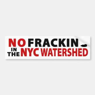 No Fracking NYC Watershed Bumper Sticker (white)