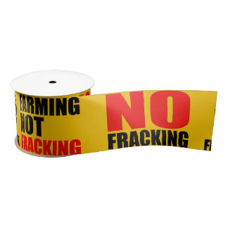 No Fracking Ribbon - 2 yds Satin Ribbon