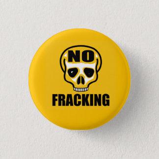 No Fracking Skull Badge
