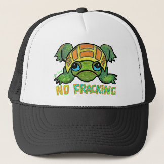 NO FRACKING TURTLE Baseball Cap
