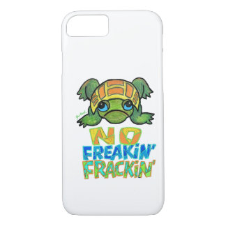 No Fracking Turtle iPhone 7 case