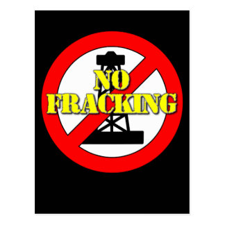 No Fracking UK 2 Postcard