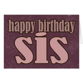 No Frills Birthday Sis card