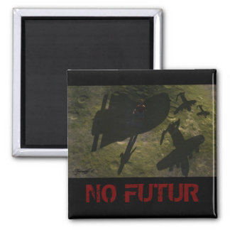 NO FUTURE SQUARE MAGNET