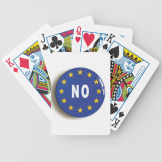 No:  Get The UK Out of the EU Bicycle Playing Cards