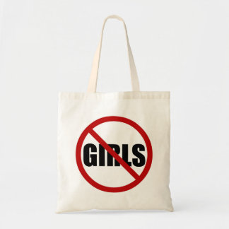 No Girls Allowed Icon Canvas Tote Bag