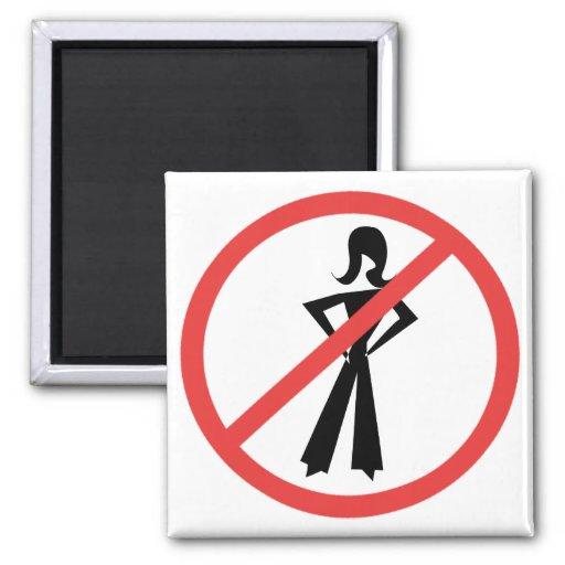 No Girls Allowed Fridge Magnets