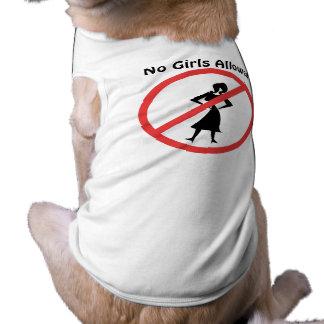 No Girls Allowed Sleeveless Dog Shirt