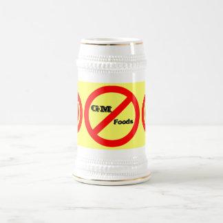 No GM -genetically modified foods mug