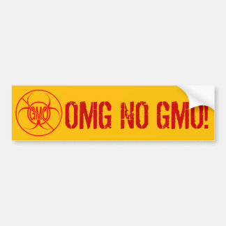 No GMO Bumper Sticker Biohazard NO GMO Sticker