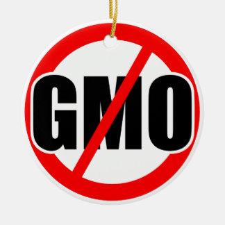 NO GMO - organic mansanto activism protest farming Christmas Tree Ornament