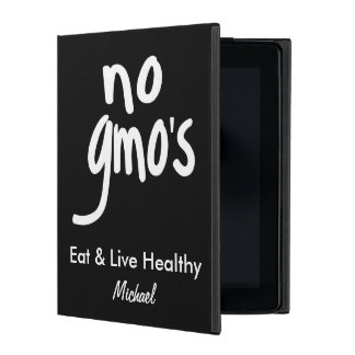 No GMO's Eat Healthy Black Name Personalized Case For iPad