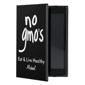 No GMO's Eat Healthy Black Name Personalized Cases For iPad Mini