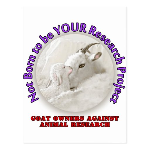 No Goat Research Postcards