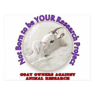 No Goat Research Postcard