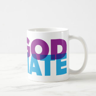 NO GOD NO HATE COFFEE MUG
