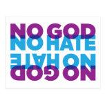 NO GOD NO HATE POSTCARDS