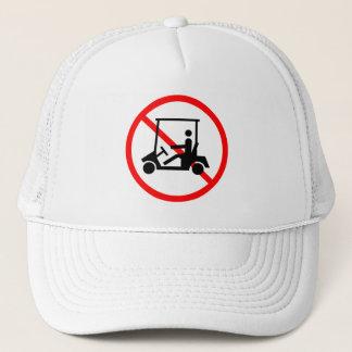 No Golf Carts Sign Hat