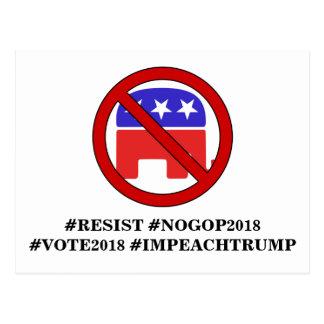 NO GOP 2018 POSTCARD