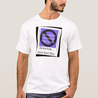 No Government Controlled Healthcare Tee Shirt