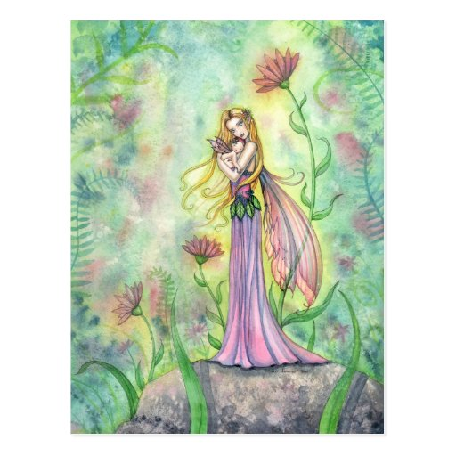 No Greater Gift Fairy Mother and Baby Postcard