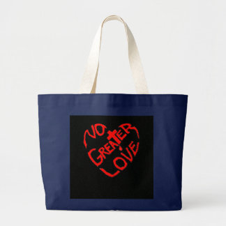 No Greater Love Christian Large Tote Bag