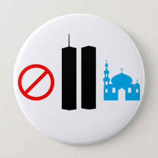 No Ground Zero Mosque 10 Cm Round Badge