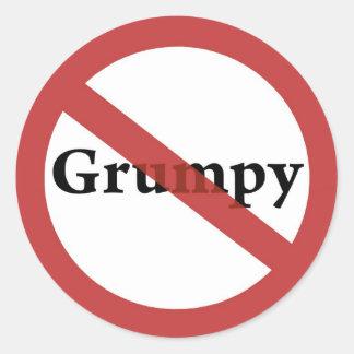 No Grumps Allowed! Round Sticker