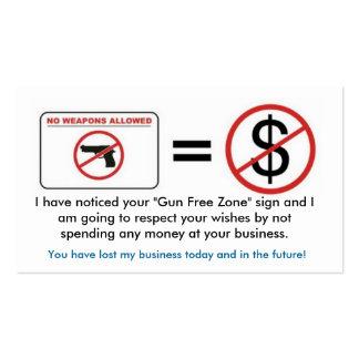 No Gun, No Money Business Card Templates