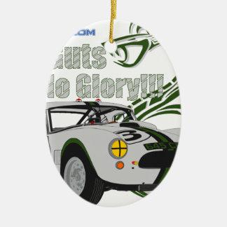 No guts No glory- cobra Ceramic Ornament