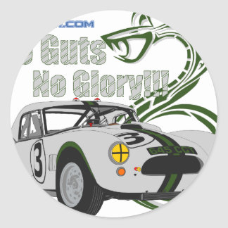 No guts No glory- cobra Classic Round Sticker