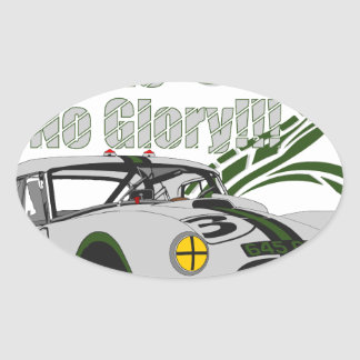 No guts No glory- cobra Oval Sticker