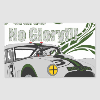 No guts No glory- cobra Rectangular Sticker