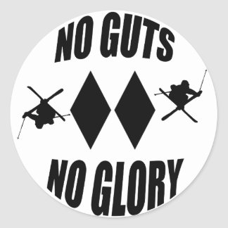 No Guts No Glory Skier Sticker