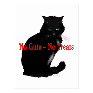 """No Guts, No Treats"" Post Card"
