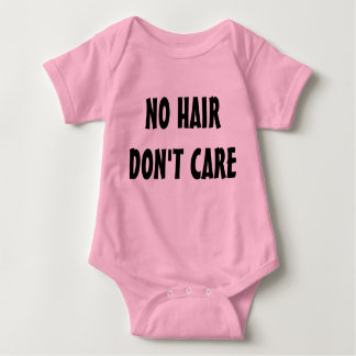No Hair Don't Care all-in-one Baby Bodysuit