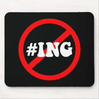 no hash tagging mouse pad