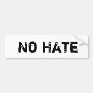 No Hate Bumper Sticker