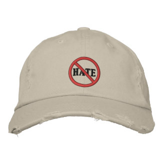 No Hate Hat Embroidered Hats
