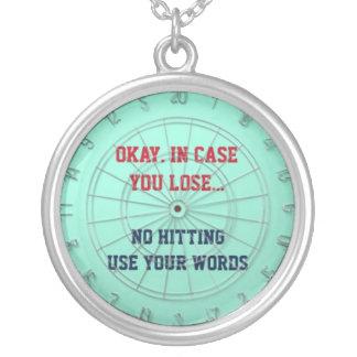 "No Hitting - Use Your Words ""Dartboard"" Pendant"