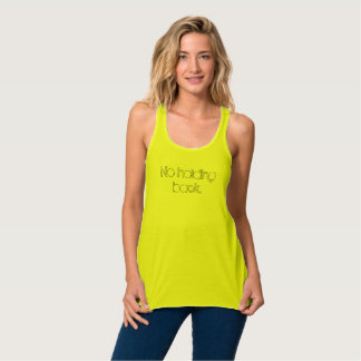 No Holding Back Canvas Flowy Racerback Tank Top