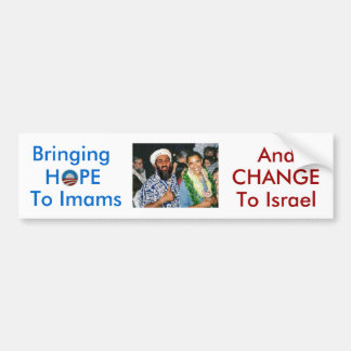 No Hope, Just Change For Israel bumper sticker