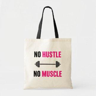 No Hustle No Muscle workout bag