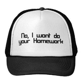 No, I wont do your homework Trucker Hats
