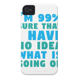 No Idea What's Going On iPhone 4 Covers