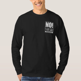 No! In the Name of Humanity shirt