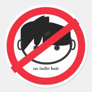 no indie hair sticker