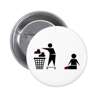 no inline 6 cm round badge