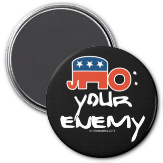No is Your Enemy Refrigerator Magnet