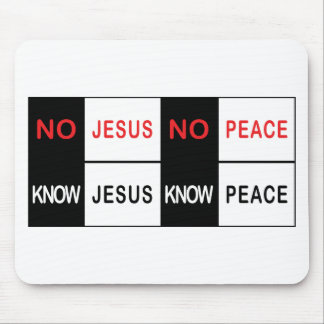 No Jesus No Peace Mouse Pad